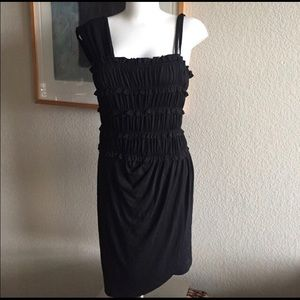 NWT Black Sz M Anthropologie Leifnotes Dress